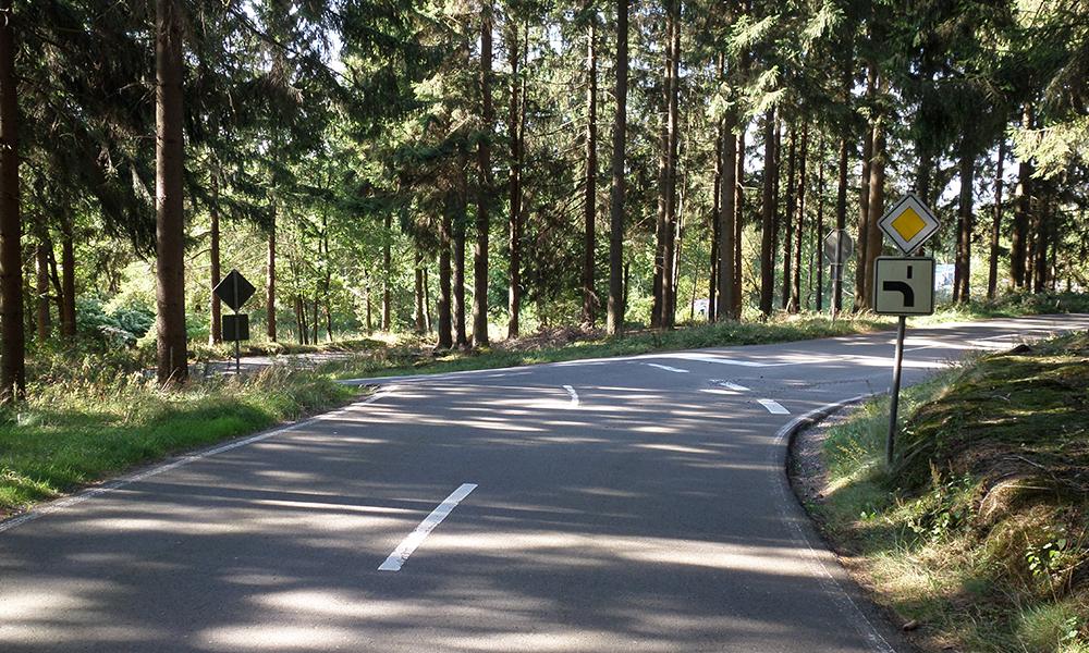 Fahrtraining Übungsgelände Wald