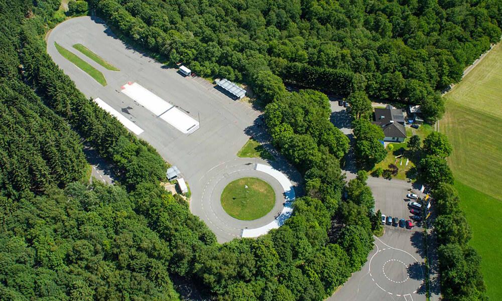 Luftansicht: Gelände Verkehrsicherheitszentrum Olpe