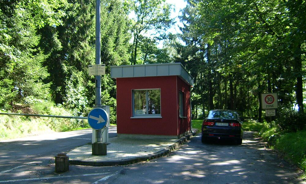 Einfahrt zum Verkehrübungsplatz in Olpe